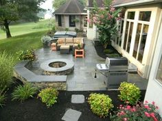 An example of Hively Landscapes completed decks, patios, and shade structures projects. An example of Hively Landscapes completed decks, patios, and shade structures projects. Design Patio, Backyard Patio Designs, Outdoor Kitchen Design, Backyard Landscaping, Landscaping Ideas, Backyard Ideas, Concrete Backyard, Concrete Patio Designs, Stamped Concrete Patios