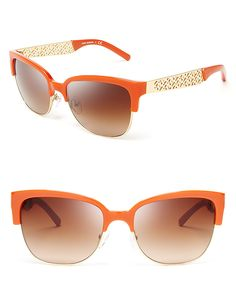 Orange is the new black (NOT for ME) These are cute and I like orange, but black is black. #sunglasses #toryburch