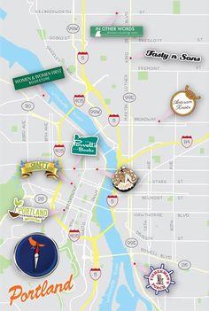 Portlandia travel map.