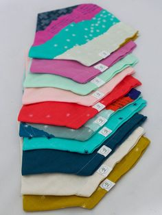 Ollie Bandana Bib Two-Pack: Choose any two colors! – Hemming Birds Boutique