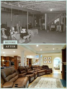 Get Inspiring Ideas From Basement Remodel Before And After | Sarah Home Design