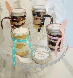 gluten free cupcakes in a jar