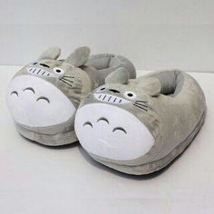 Soft Slippers, Cute Slippers, Kigurumi Totoro, My Neighbor Totoro, Pajamas Women, Kawaii Fashion, Cute Shoes, Baby Shoes, Plush