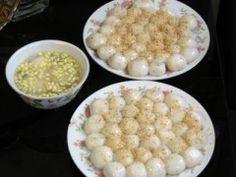 Bánh trôi, bánh chay - Gekochte, süße Klebreisbällchen - Vietnamesisches Kochbuch