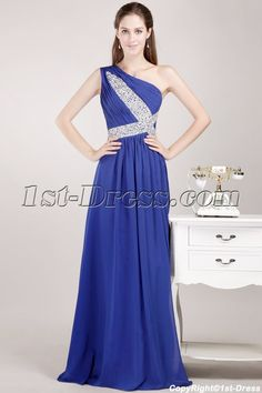 1st-dress.com Offers High Quality Navy Blue Military Inspired Prom Dresses with One Shoulder,Priced At Only US$160.00 (Free Shipping)