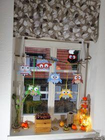 selber, machen, basteln, diy, ideen, anleitung, selbermachen, Eulenfenster, Herbstdekoration