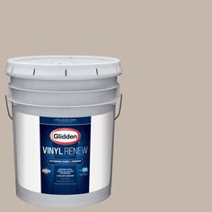 Glidden 5 gal. #HDGWN24 Stone Harbor Greige Low-Lustre Exterior Paint with Primer