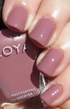 Zoya Naturel Collection Swatches // Brigitte is a pinky mauve creme. I feel like…