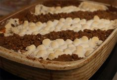 Sweet Potato Casserole with Marshmallow & Pecan Topping   Food Your Way