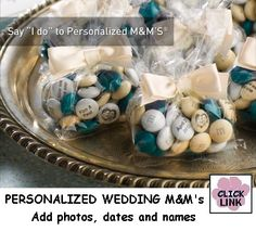Personalized M's make a wonderful wedding favor.  Add names, dates, photos or favorite sayings.