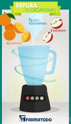 ¿Qué te parece este rico jugo desintoxicante? #ViveSaludable #adelgazarpiernas