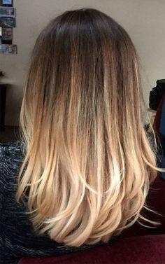 Perfect bayalage❤️ brunette blonde long hair 2017 #BlondeHairstylesMedium