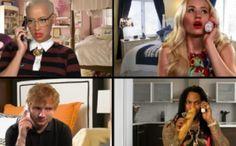 Amber Rose, Iggy Azalea, Waka Flocka Flame and Ed Sheeran Recreate the 'Mean Girls' Call Scene