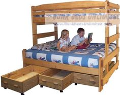 Bunk Bed Plans For Stackable Twin Over Full With Drawers Or Trundle