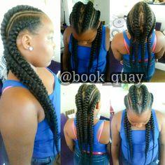 Quayzy Styles Ghana Braids #NaturalBraids #FreehandDesign #Pinterest #PittsburghStylist @book_quay