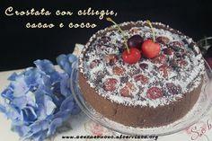 Crostata con ciliegie, cacao e cocco vegan senza glutine http://www.senzaebuono.it/crostata-con-ciliegie-cacao-cocco-vegan-senza-glutine/