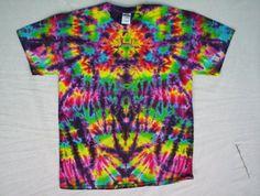 Tie Dye Rainbow Crazy Size XL by tiedyetodd on Etsy Bleach Tie Dye, Tye Dye, Tie Dye Crafts, Tie Dye Rainbow, Tie Dye Fashion, Denim Art, Tie Dye Colors, Tie Dye Shirts, Cool Ties