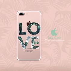 LOVE Palm tree iPhone 6 6S Plus Case Cute