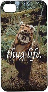Star Wars Ewok Thug Life iPhone 5 5s case Free Shipping