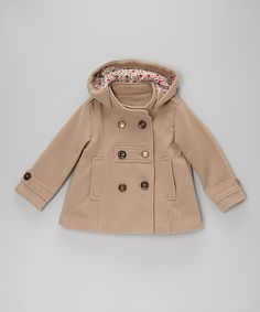 Take a look at this Tan Peacoat - Toddler & Girls on zulily today!