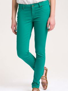 Fire Teal Stretch Jeans