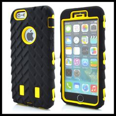 High Quality Shockproof Rugged Combo Tyre Armor Case for iPhone6 plus Here Gives You Superior Enjoyment!