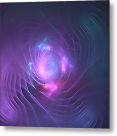 Mariia Kalinichenko Metal Print featuring the digital art Violet Tenderness by Mariia Kalinichenko #MariiaKalinichenkoFineArtPhotography #ArtForPrint #MetalPrint #AbstractArt #VioletFractal