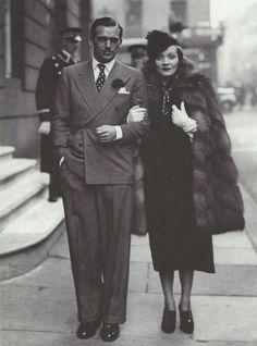 ohmarlenemarlene:  Marlene Dietrich and Douglas Fairbanks Jr