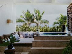 Master bath terrace at George Clooney's Mexican home