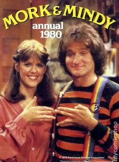Mork and Mindy. Robin Williams in his young days. 80 Tv Shows, Old Shows, Great Tv Shows, The Ateam, 80s Tv Series, Mejores Series Tv, Mork & Mindy, Robin Williams, Vintage Tv