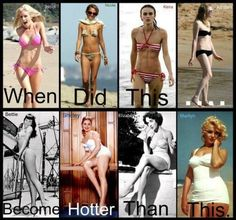 I think a woman with curves look way better then a stick! But that's just me!!