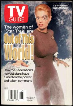 Chuck's Stuff has this Nov. 8-14th 1996 Star Trek TV Guide with Jeri Ryan/Seven of Nine cover for sale for $2. Near mint newsstand copy. #startrek #tvguide