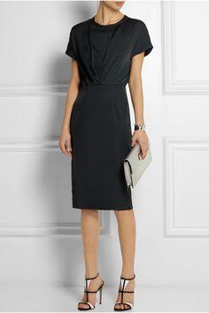 By Malene Birger|Ethleen Kleid aus Stretch-Seide und Stretch-Satin-Jersey|NET-A-PORTER.COM