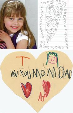 "When 6 year old Elena Desserich was diagnosed with brain cancer, she began hiding hundreds of little love notes around the house for her parents to find. She was given 135 days to live. She lived 255 days, passing away in 2005. ""It just felt like a little hug from her, like she was telling us she was looking over us"""