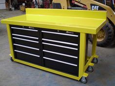 """For Sale: Custom Built Work Benches made to order.  Heavy duty work benches. The top is made from 11 ga. steel (approx 1/8"""") and is formed either flat or with a back splash (seen in photos). Legs are 3""""x 3"""" 1/8"""" tubing.  Options: 1) Mid height shelf with ply wood or sheet/expanded metal 2) Your choice of numerous tool chests or drawers. (I usually use Craftsman roller bearing cabinets)  Your choice of casters: two casters, two rigid, or four casters, or more..."""