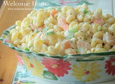 ♥ Shrimp Macaroni Salad Recipe Salads with shrimp, diced celery, old bay seasoning, vidalia onion, dill weed, celery seed, salt, pepper, fresh chives, mayonnaise, milk