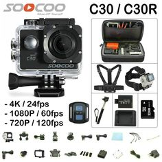 SOOCOO C30 C30R Action Camera 4K Gyro Wifi Adjustable Viewing angle 170 Degrees 2.0 LCD NTK96660 30M go Waterproof pro Camera