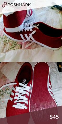 Adidas's Brand new never worn ..dark red, also they are unisex 10 women.. 8 men adidas Shoes Sneakers