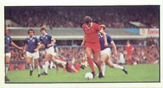 Birmingham City 2 Liverpool 1 in Aug 1976 at St Andrews. John Toshack gets forward for Liverpool #Div1