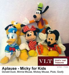Mickey for Kids Lot Donald Duck Minnie Mouse Mickey Mouse Pluto Goofy 1998 w tag - $29.99