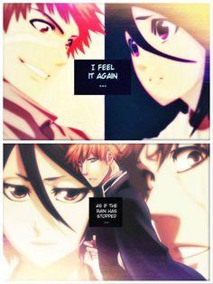 as if the rain has stopped Rukia Bleach, Ichigo X Rukia, Bleach Anime, Bleach Couples, Cute Anime Wallpaper, Anime Love, Manga Art, Strawberry, Death