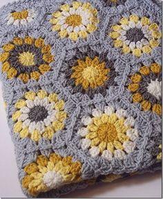Yellow & Gray Hexagon Blanket