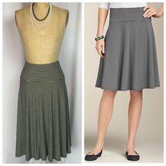 Talbots Black White Pinstripe Jersey Knit Full Skirt XL | eBay
