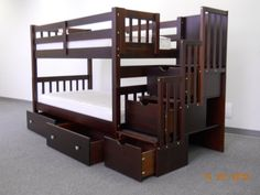for the boys'... their awesome bunkbed set.  The trundle drawers are under the bed are very handy for small spaces.