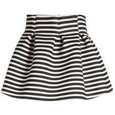 Molo BENTE - Pleated skirt - breton - Zalando.co.uk (€39) ❤ liked on Polyvore featuring skirts, knee length pleated skirt, pleated skirts and molo