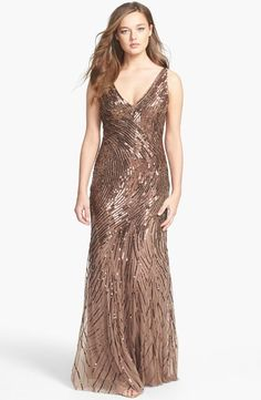Aidan Mattox Beaded Mesh Gown #eveningwear #dresses www.finditforweddings.com