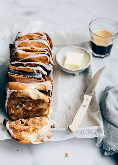 Cinnamon Pull Apart Bread, Cinnamon Bread, I Love Food, Good Food, Yummy Food, Gourmet Recipes, Baking Recipes, Cinnamon Bun Recipe, Sweet Bread