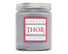 Thor Scented Soy Candle - oak forest, thunderstorm - God of Thunder by bubbleandgeek on Etsy (null)
