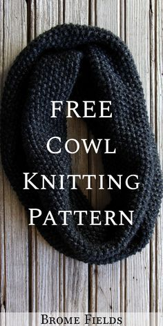 Grab this FREE Cowl Knitting Pattern. This is a beginner knitting pattern which . : Grab this FREE Cowl Knitting Pattern. This is a beginner knitting pattern which is knit flat and then seamed together patterns free hats flat Loom Knitting Patterns, Knitting Projects, Free Knitting, Knitted Cowl Patterns, Crochet Patterns For Beginners, Knitting For Beginners, Cardigan, Knitted Hats, Free Pattern