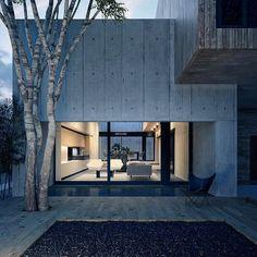 Caixa de concreto em estilo minimalista por Lemons Bucket // Concrete box in minimalist style by #lemonsbucket www.inandoutdecor.com.br #inandoutdecor